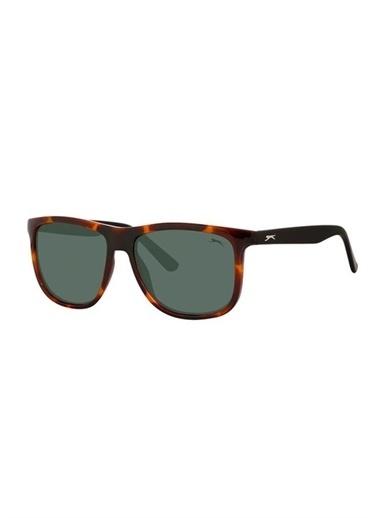 Slazenger Slazenger 6484 Col 01 5916 Kare ÇerÇeve Kahve Polarize Cam Unisex Güneş Gözlüğü Renkli